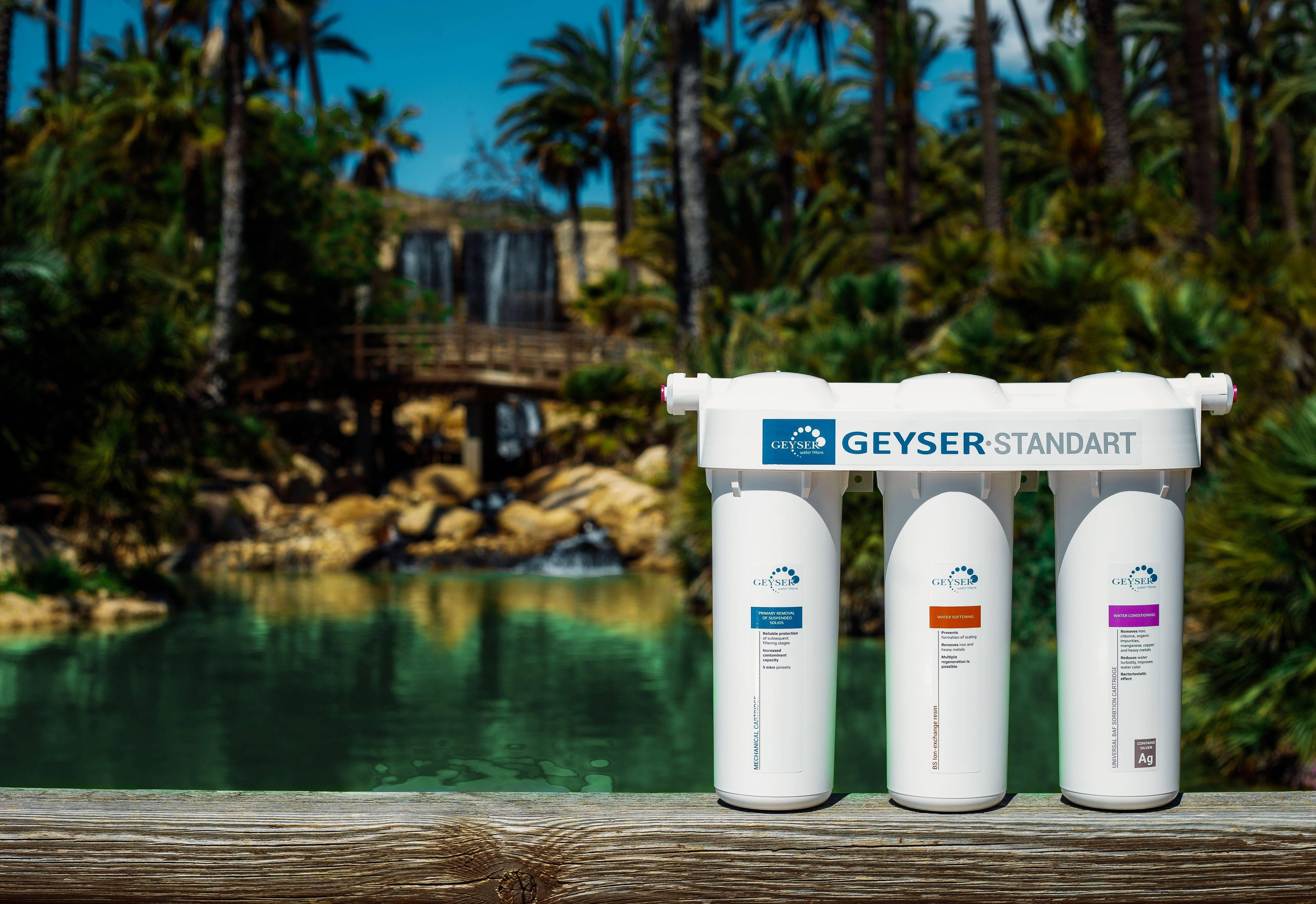 Filtro de agua de tres fases GEYSER STANDART