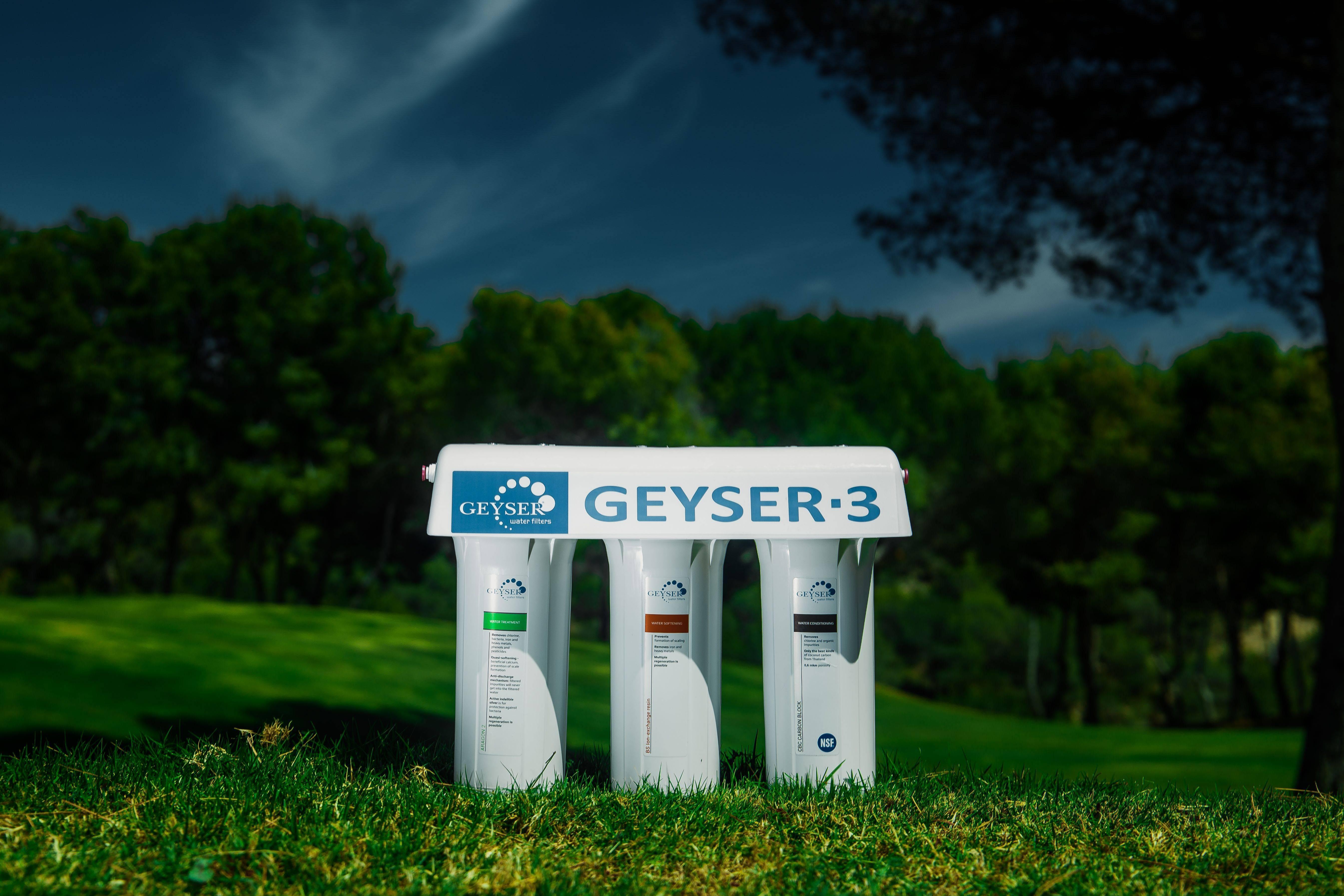 Filtro de agua de tres fases GEYSER LUX